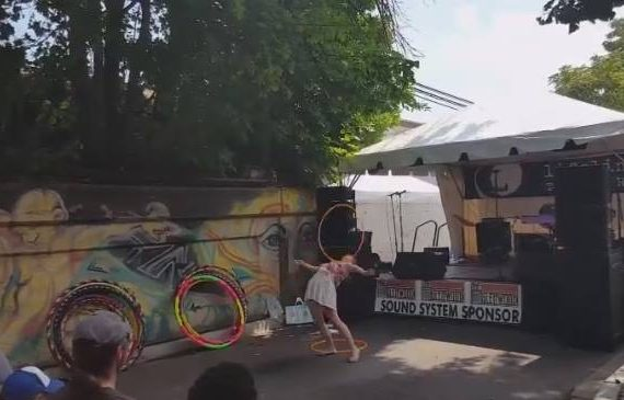 get paid hula hooping